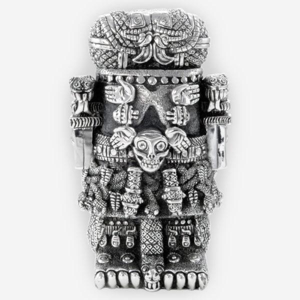 Escultura de la Diosa Azteca Coatlicue, hecha mediante proceso de electroformado.