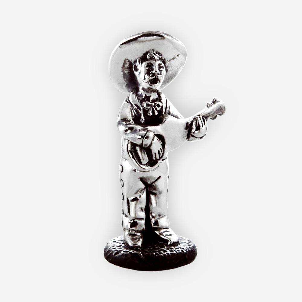 Escultura Electroformed de la plata del guitarrista.