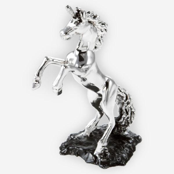 Escultura de Plata de Unicornio hecha mediante proceso de electroformado