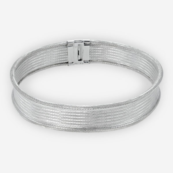 Handwoven Necklace crafted in Sterling Silver Fabric